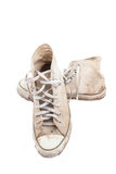 Vecchie scarpe da tennis. Fotografie Stock Libere da Diritti