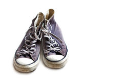 Vecchie scarpe da tennis indossate Fotografia Stock Libera da Diritti