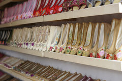 Vecchie scarpe del panno di Pechino Fotografia Stock Libera da Diritti