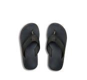 Vecchie scarpe nere  Fotografia Stock
