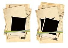 Vecchie schede dell'accumulazione per scrapbooking Immagini Stock