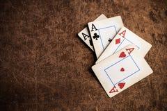 Vecchie schede di gioco fotografie stock libere da diritti