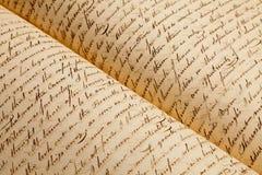 Vecchie scritture Fotografia Stock