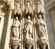 Vecchie sculture del tempio dei calcari in Croazia Fotografia Stock