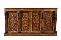Vecchie sedere di mogano inglesi antiche dell'apprettatrice del gabinetto del lato del chiffonier fotografie stock