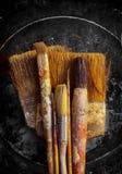 Vecchie spazzole Fotografie Stock