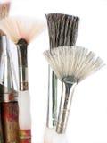 Vecchie spazzole di arte fotografia stock