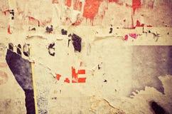 Vecchie strutture di lerciume dei manifesti Fotografia Stock Libera da Diritti