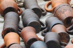 Vecchie terraglie dell'ornamento Immagine Stock