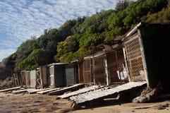 Vecchie tettoie 2 della barca Fotografia Stock Libera da Diritti