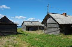Vecchie tettoie di legno Fotografia Stock Libera da Diritti
