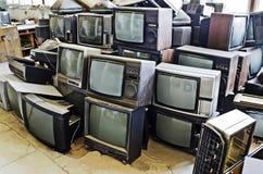 Vecchie TV Fotografie Stock Libere da Diritti