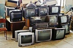 Vecchie TV Fotografia Stock Libera da Diritti