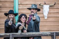Vecchie urla ad ovest del trio fotografia stock