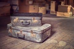 Vecchie valigie dell'annata Immagine Stock Libera da Diritti