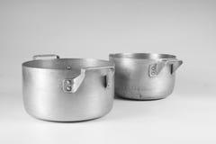 Vecchie vaschette Fotografia Stock