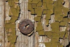 Vecchie vernici e Pin arrugginito Fotografie Stock Libere da Diritti