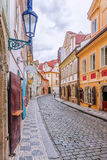 Vecchie vie di Praga, repubblica Ceca Fotografia Stock Libera da Diritti