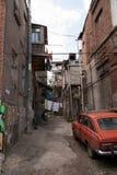 Vecchie vie di Tbilisi Fotografia Stock