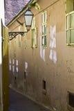 Vecchie vie di Zagabria della città Fotografia Stock Libera da Diritti