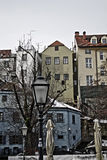 Vecchie vie e costruzioni di Zagabria della città Fotografia Stock Libera da Diritti