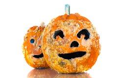 Vecchie zucche di Halloween Immagine Stock Libera da Diritti