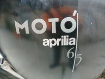 Vecchio ³ 6 di Aprilia Motà motociclo 5 Immagini Stock