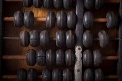 Vecchio abaco, vista superiore. Fotografie Stock