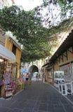 Vecchio acquisto del ricordo della città di Rodi La Grecia Fotografia Stock