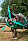 Vecchio aereo di combattimento Fotografie Stock Libere da Diritti