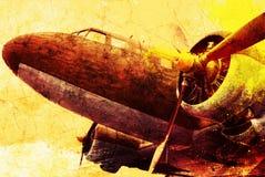 Vecchio aereo militare Immagini Stock Libere da Diritti