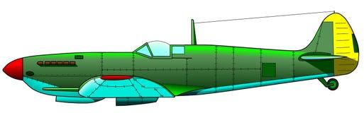 Vecchio aereo militare Immagine Stock Libera da Diritti