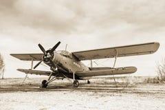 Vecchio aeroplano fotografia stock libera da diritti