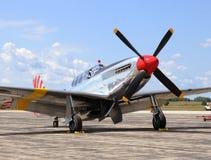 Vecchio aeroplano del combattente Immagine Stock