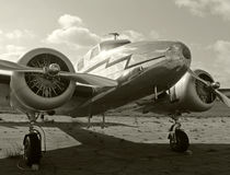 Vecchio aeroplano dell'elica fotografia stock