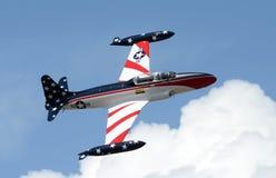 Vecchio aeroplano di addestramento del jet Fotografie Stock Libere da Diritti