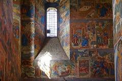 Vecchio affresco in chiesa ortodossa Fotografia Stock Libera da Diritti