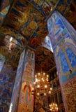 Vecchio affresco in chiesa ortodossa Fotografia Stock