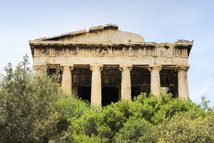 Vecchio agora a Atene Fotografie Stock