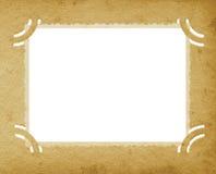 Vecchio album d'annata strutturato invecchiato del bordo di lerciume verticale della foto retro Immagini Stock