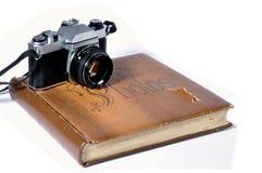 Vecchio album di foto Fotografie Stock