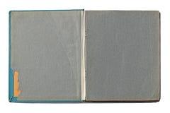 Vecchio album di foto d'annata aperto fotografie stock