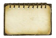 Vecchio album per il disegno su priorità bassa isolata Fotografia Stock Libera da Diritti