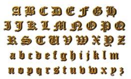 Vecchio alfabeto inglese Immagine Stock