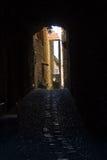 Vecchio alleyway stretto Fotografia Stock Libera da Diritti