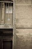 Vecchio alleyway urbano Immagini Stock