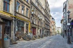 Vecchio alloggio a Bucarest del centro Fotografia Stock Libera da Diritti