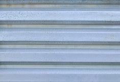 Vecchio alluminio ondulato Immagini Stock