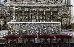 Vecchio altare d'argento Immagine Stock Libera da Diritti