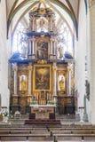 Vecchio altare dal 1697 alla cattedrale di Erfurt Immagini Stock